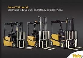 Elektryczne widłowe wózki podnośnikowe z przeciwwagą- seria VT, VF oraz VL