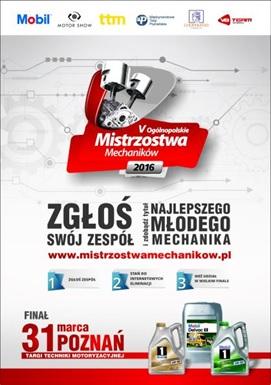 Ogólnopolskie Mistrzostwa Mechaników - zapisy