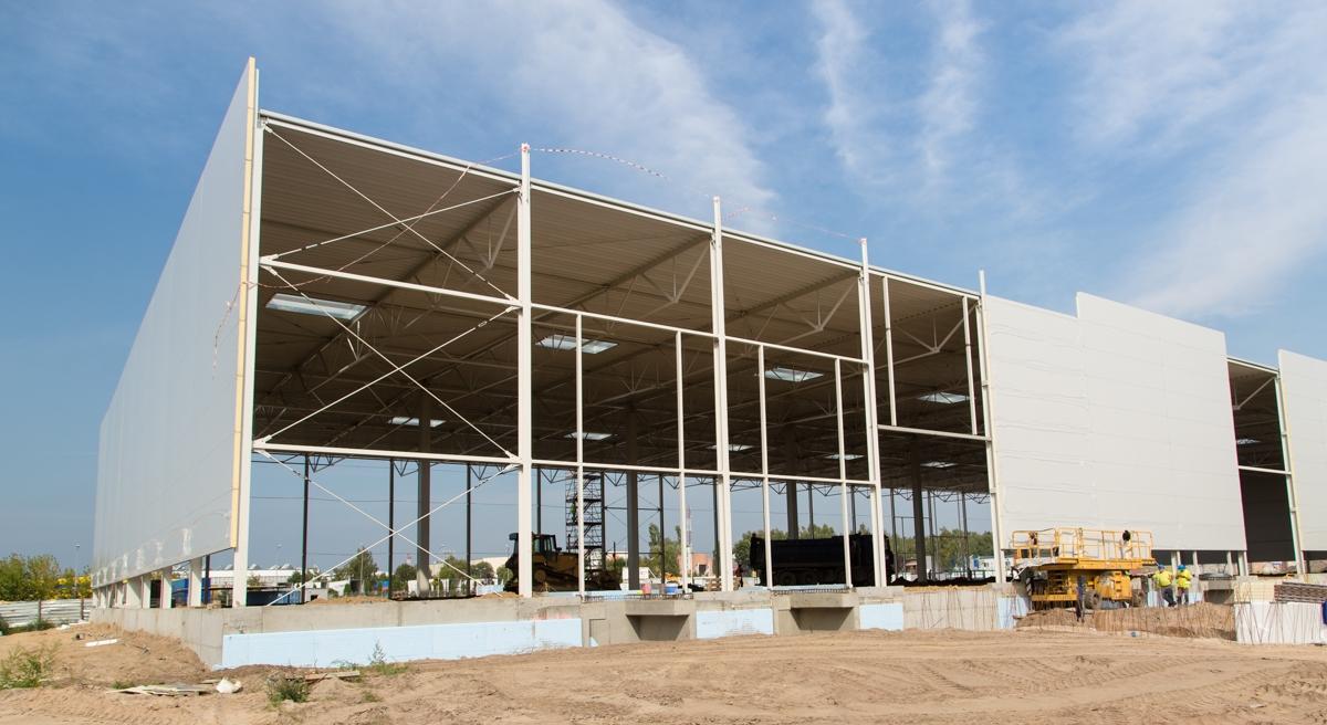 Budowa hali E w North-West Logistic Park