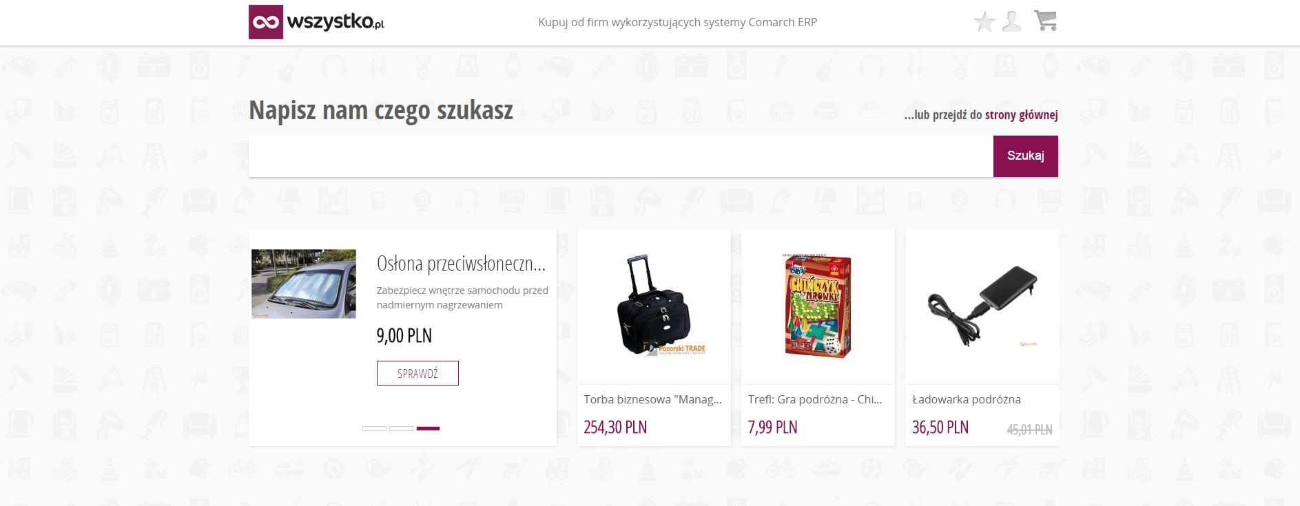 Platforma e-commerce - wszystko.pl