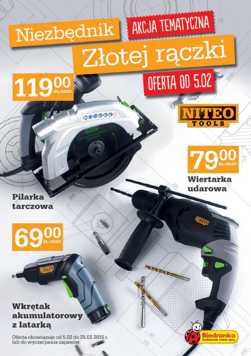 Nowa marka narzędzi w Biedronce