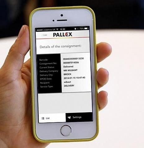 Aplikacja śledzenia przesyłek w Pall-Ex