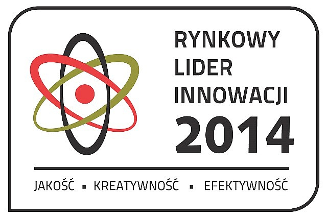 Envelo z tytułem RYNKOWY LIDER INNOWACJI 2014