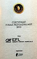 EFL z tytułem Firmy Przyjaznej MŚP