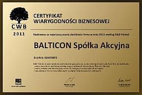 Balticon wiarygodnym partnerem w biznesie