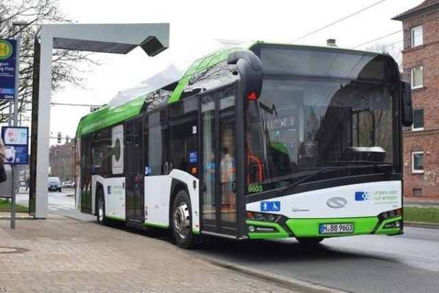 Elektryczne Solarisy Urbino  w Hanowerze
