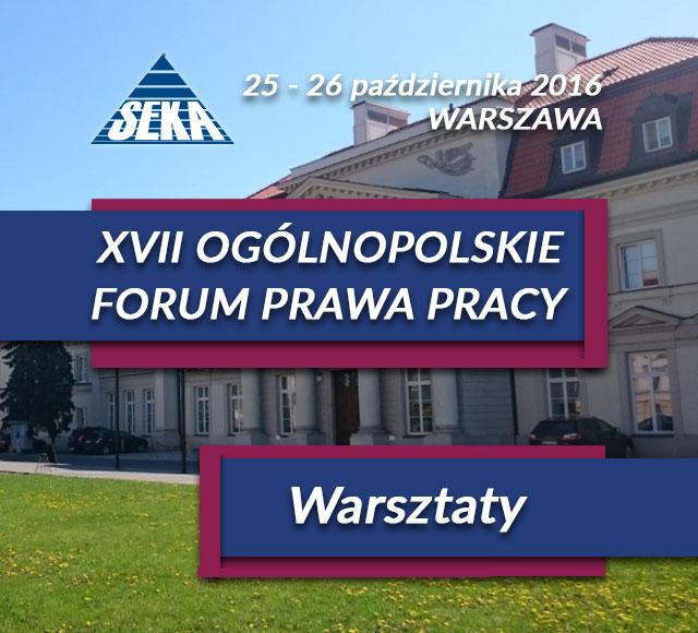 Siedemnaste Forum Prawa Pracy