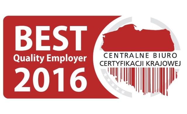 Laureat Godła Best Quality Employer 2016
