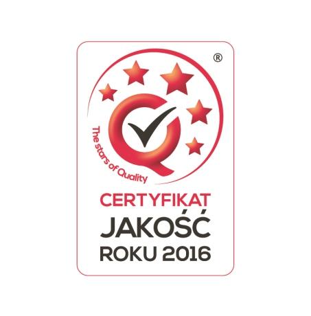 Trzykrotnym Laureat Certyfikatu JAKOŚĆ ROKU®