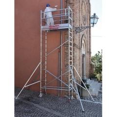 Rusztowanie / wieże jezdne TOP SYSTEM o wymiarach podstawy 75 x 245 cm
