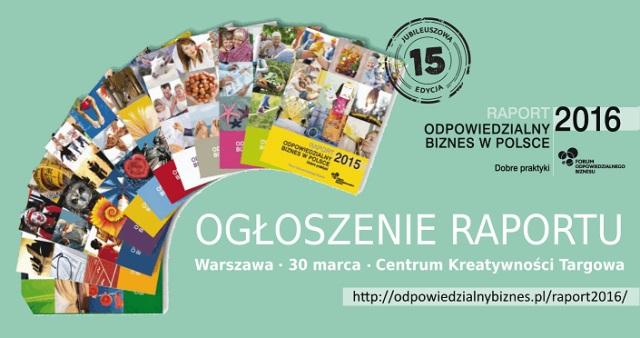 """Jubileuszowa edycja Raportu """"Odpowiedzialny biznes w Polsce. Dobre praktyki"""""""