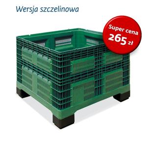 Skrzyniopaleta szczelinowa w super cenie