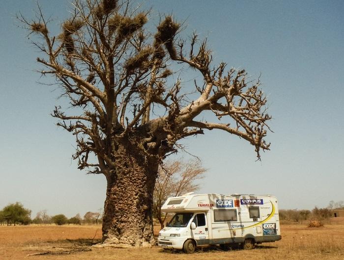Kamper w afrykańskim słońcu
