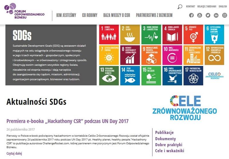 Nowa platforma wiedzy o Celach Zrównoważonego Rozwoju