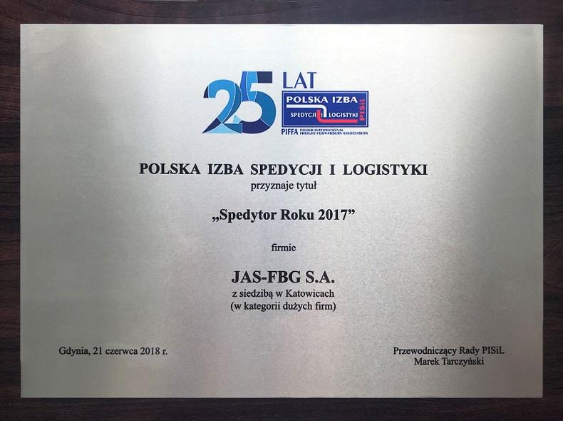 JAS-FBG Spedytorem Roku