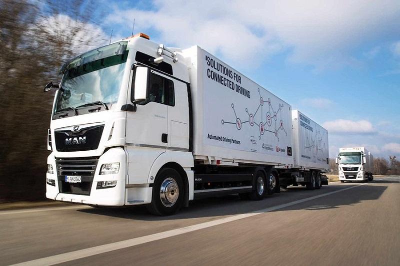 Pierwszy na świecie zintegrowany konwój ciężarowy w Niemczech
