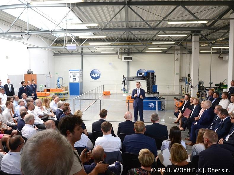 Premier Mateusz Morawiecki w firmie WObit