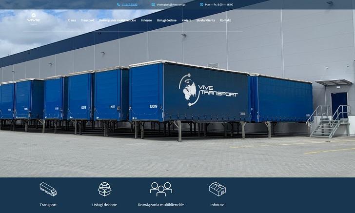 Strona internetowa VIVE Logistics jest już aktywna