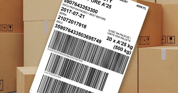Etykieta logistyczna GS1