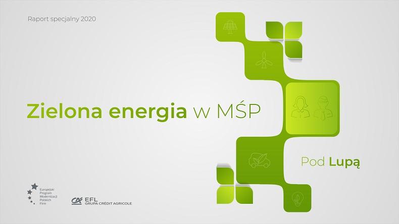 """Raport EFL: """"Zielona energia w MŚP. Pod lupą"""""""
