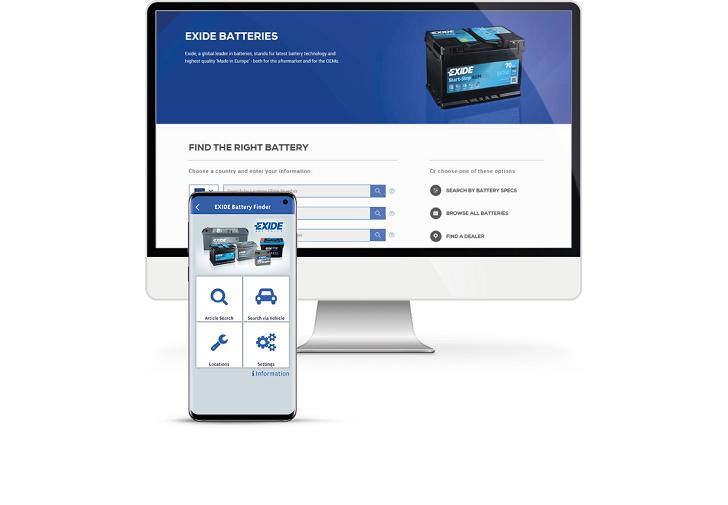 Aplikacja Exide Battery Finder