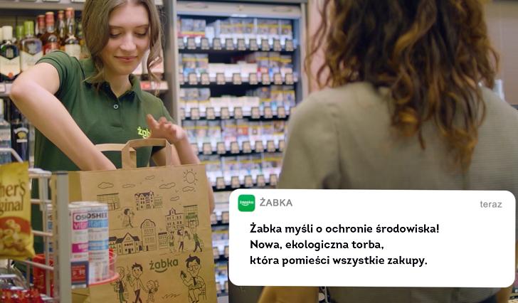 Żabka wycofuje plastikowe torby z sieci sklepów