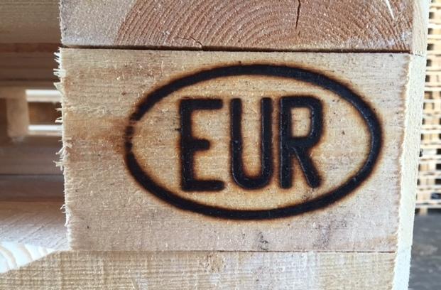 Wypalony znak EUR