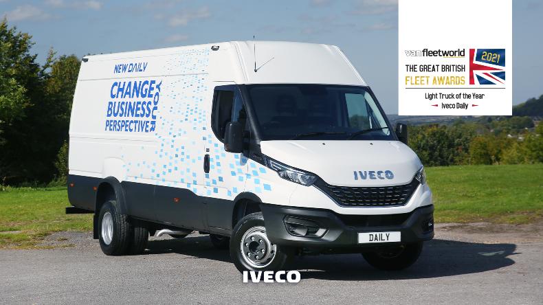 IVECO Daily z tytułem Lekkiego Samochodu Ciężarowego Roku 2021