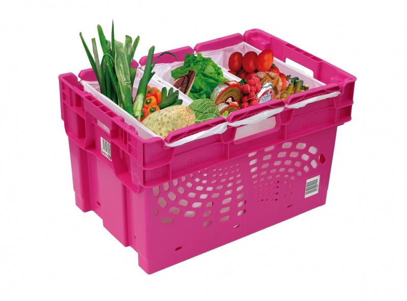 Pojemnik oszczędzający powierzchnię do dostarczania żywności do domu klienta