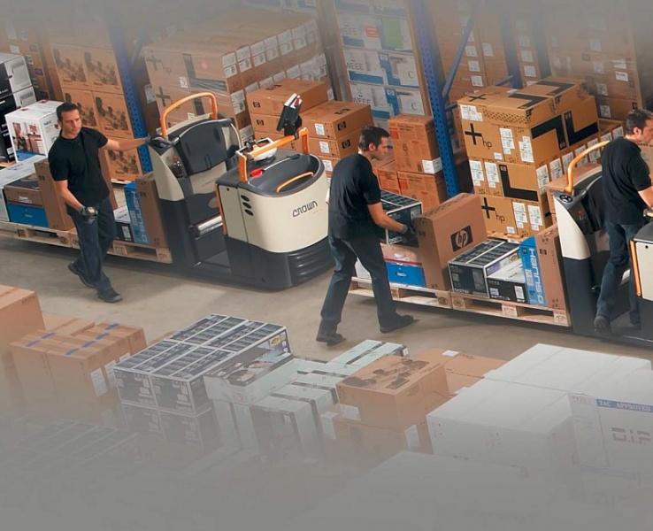 Wózki serii GPC 3000 w magazynie