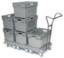 Pojemniki e-commerce na wózku Dollyfix