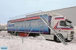 Bezpieczne odśnieżanie aut ciężarowych