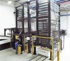 Regał TwinTower zintegrowany z wycinarką laserową