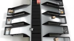 Nowy pionowy sorter typu Crossbelt