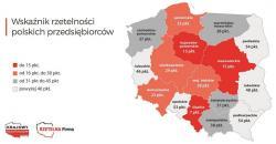 Mapa rzetelności polskich przedsiębiorstw